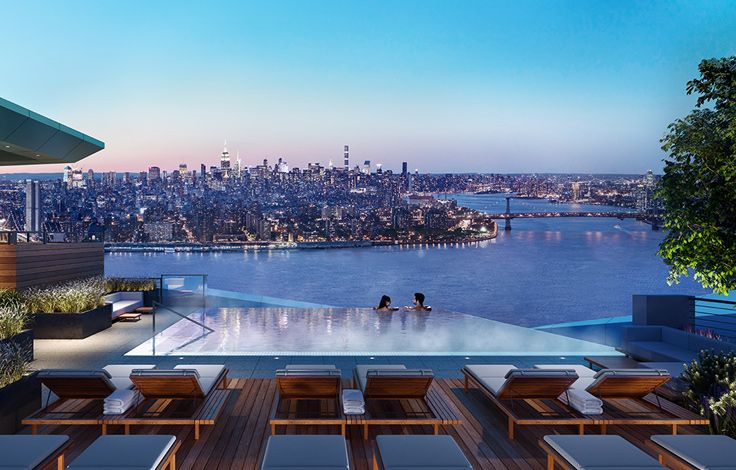 Brooklyn Point - Rooftop Pool View