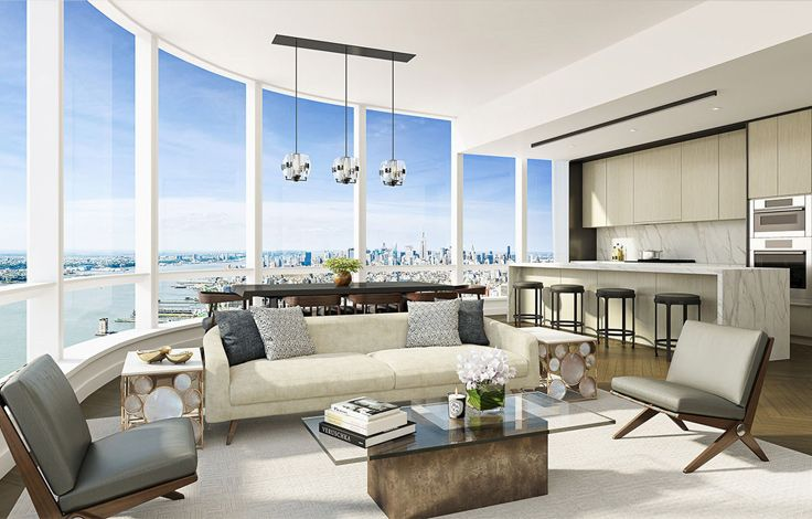 111 Murray Street Interior - Living Room Rendering