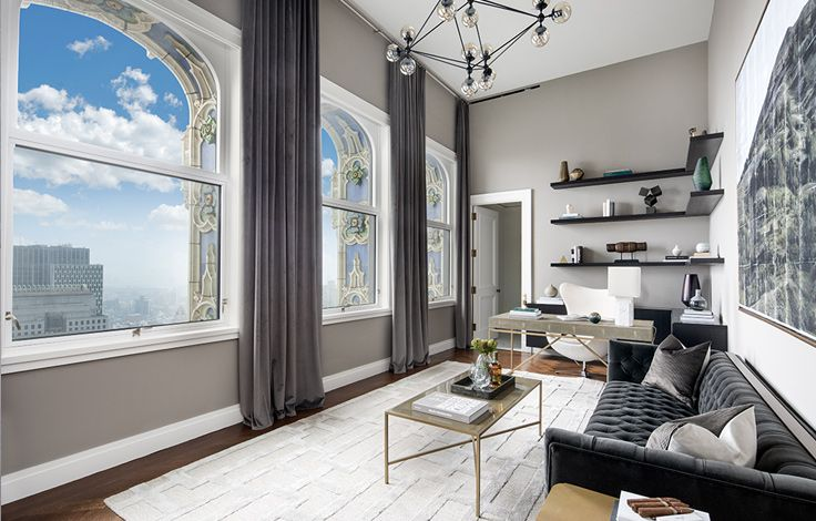 The Woolworth Tower Residences - Exterior View Living Room - Angle View