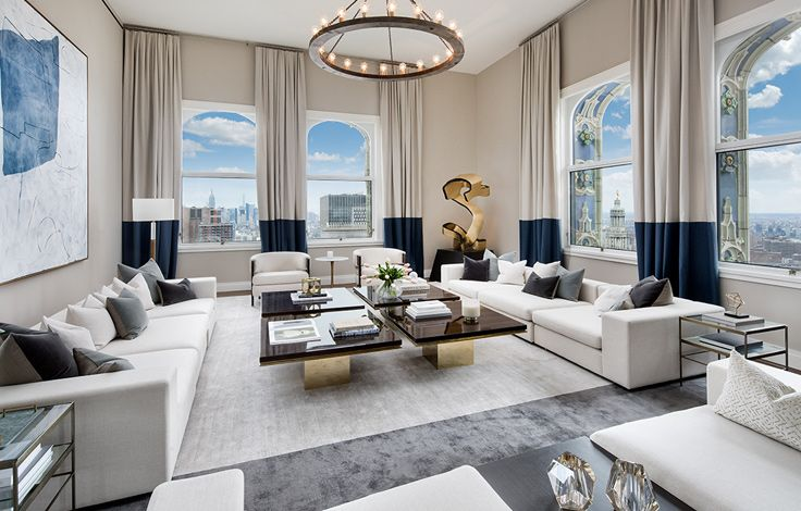 The Woolworth Tower Residences - Interior View - Living Room Overview