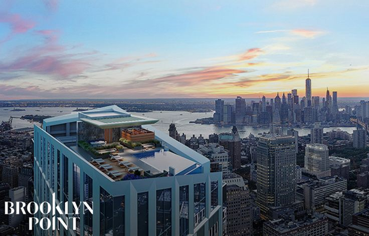 Brooklyn Point - Aerial View Over the Rooftop Poo