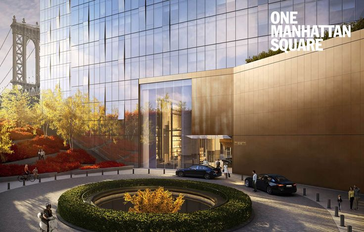 One Manhattan Square - Building - Main Entrance Rendering