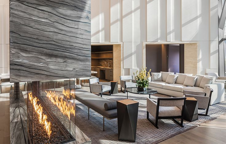 Waterline Luxury Rentals - Common Area - Fireplace