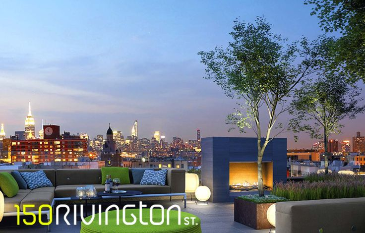 150 Rivington - Skyline View from Terrace Rendering