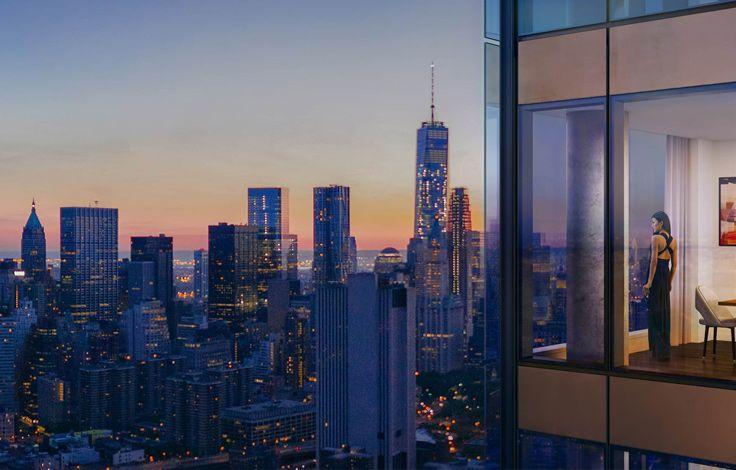 One Manhattan Square - Exterior Window - Night View
