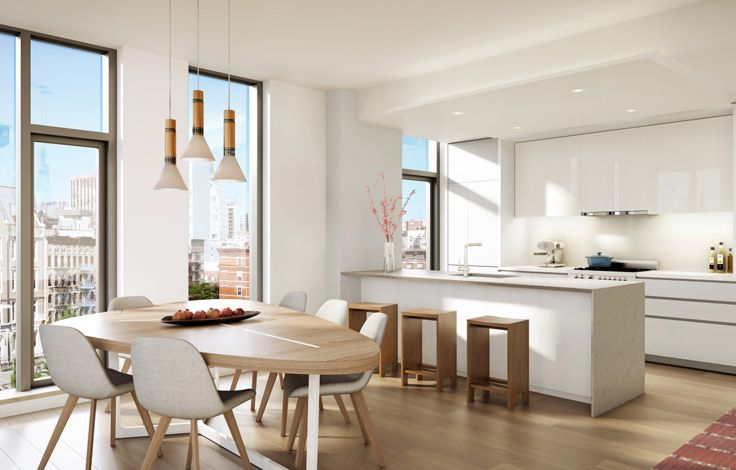 150 Rivington - Unit Kitchen Rendering