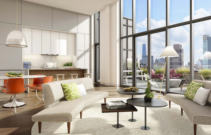 150 Rivington - Unit Living Room Rendering
