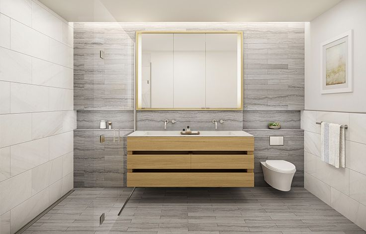150 Rivington - Unit Bath Room Rendering