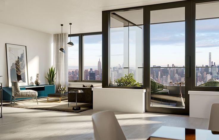 Skyline Tower - Unit Living Room Rendering 2