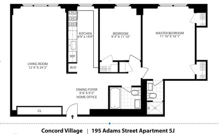 Concord Village 195 Adams Street Unit 5j 2 Bed Apt For Sale For 949 000 Cityrealty