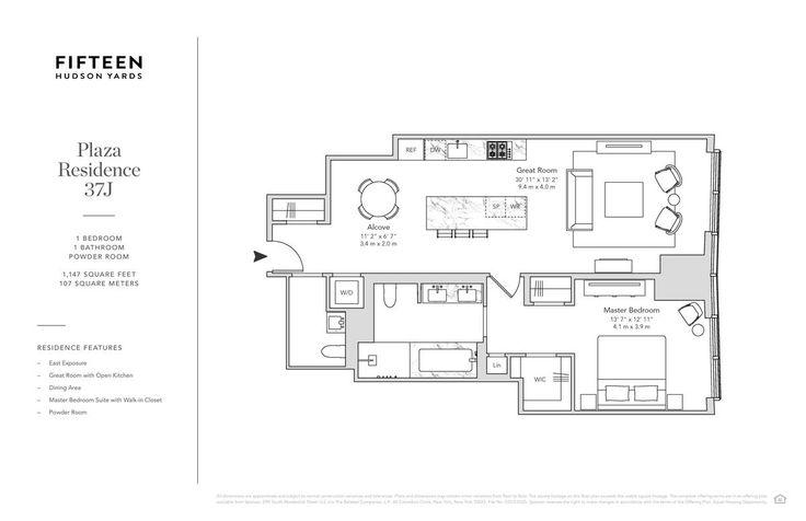 Fifteen Hudson Yards 15 Hudson Yards Unit 37j 1 Bed Apt For Rent For 6 900 Cityrealty
