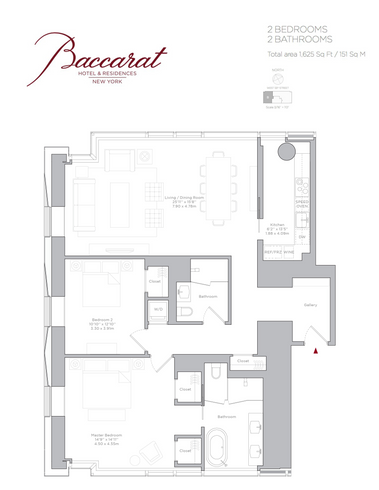 Baccarat Hotel Residences 20 West 53rd Street Unit 36b 2 Bed Apt For Sale For 5 495 000 Cityrealty