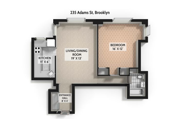 Concord Village 235 Adams Street Unit 4f 1 Bed Apt For Sale For 465 000 Cityrealty