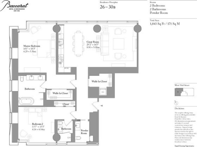 Baccarat Hotel Residences 20 West 53rd Street Unit 30b 2 Bed Apt For Rent For 13 975 Cityrealty