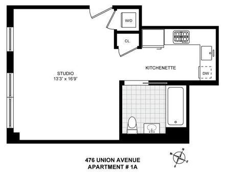 476 Union Avenue, #1A