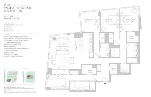 Waterline Square Luxury Rentals, 645 West 59th Street, #2504
