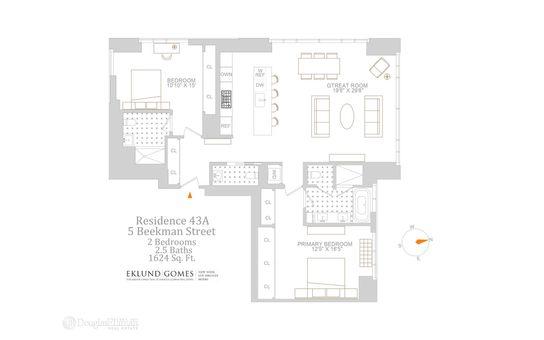 The Beekman Residences, 5 Beekman Street, #43A