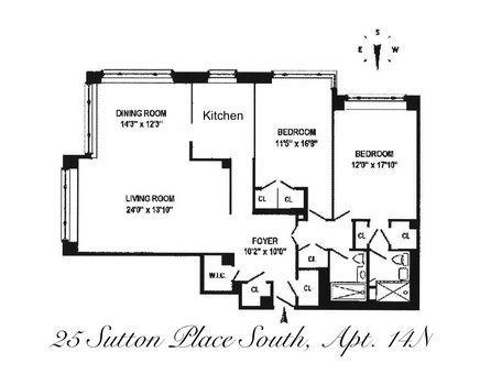 Cannon Point North, 25 Sutton Place South, #14N