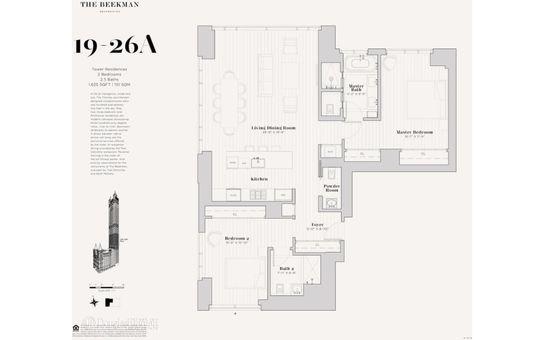 The Beekman Residences, 5 Beekman Street, #22A
