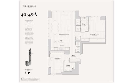 The Beekman Residences, 5 Beekman Street, #49A