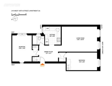 The St Charles, 215 West 105th Street, #3A